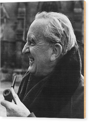 J.r.r. Tolkien, Circa 1981, Author Wood Print by Everett