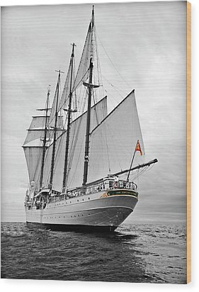 Juan Sebastian De Elcano In Its World Wild Travel Wood Print