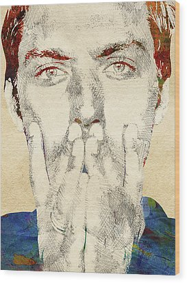 Jude Law Wood Print by Mihaela Pater