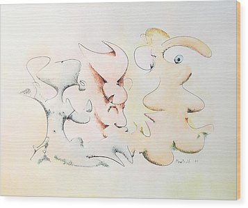 Judging Picasso Wood Print by Dave Martsolf