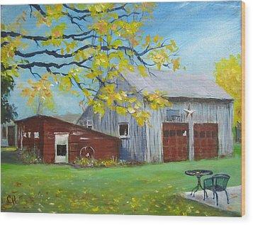 Judy's Barn Wood Print