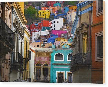 Juegos In Guanajuato Wood Print by Skip Hunt