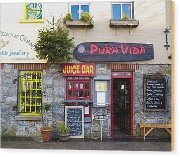 Juice Bar Wood Print by Rae Tucker