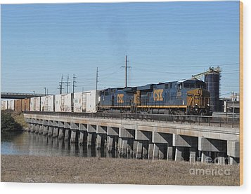 Wood Print featuring the photograph Juice Train by John Black