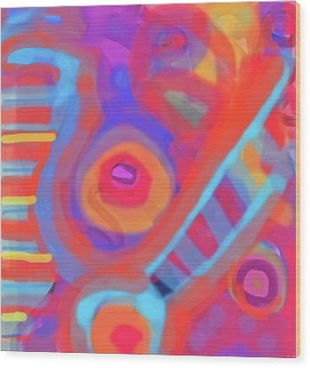 Wood Print featuring the painting Juicy Colored Abstract by Susan Stone