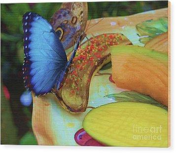 Juicy Fruit Wood Print by Debbi Granruth