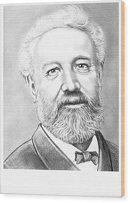 Jules Verne Wood Print by Murphy Elliott