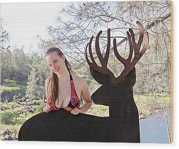 Julia And River Sculpture 2014 Wood Print by James Warren
