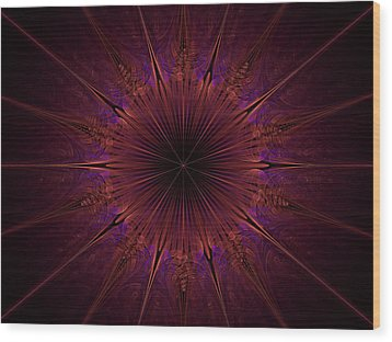 The Violet Blessings Of The Crown Chakra Wood Print by Ernst Dittmar