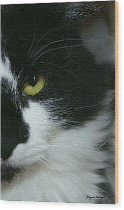 Julies Evil Eye Wood Print by Lynn Andrews