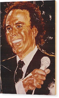 Julio Iglesias Wood Print