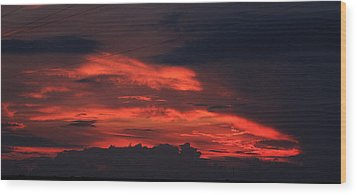 July Sunset Wood Print by Dave Clark