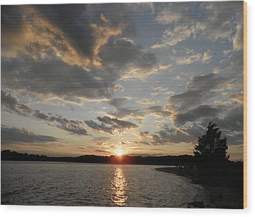 July Sunset Wood Print by Kate Gallagher