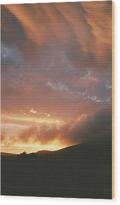 July Sunset Wood Print