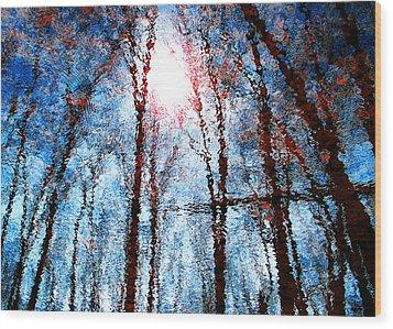 Jumbled Waters Wood Print