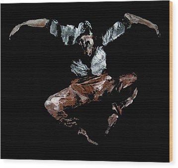 Jump Wood Print by Ana Bikic