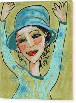 Jump For Joy Wood Print by Elaine Lanoue