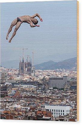 Jump Wood Print