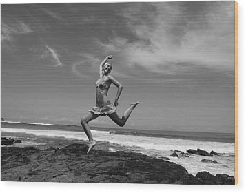 Jumping Wood Print by Cesar Marino