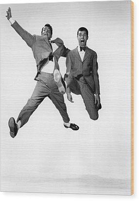Jumping Jacks, Dean Martin, Jerry Wood Print by Everett