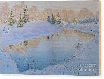 Junction Creek Wood Print by Lynn Quinn
