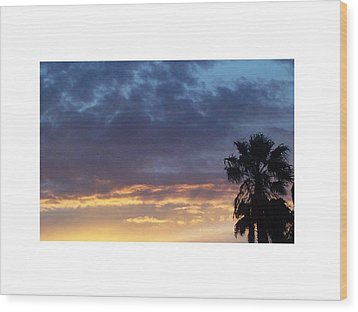 June Sunset  In Las Vegas Wood Print by Patricia  Williams