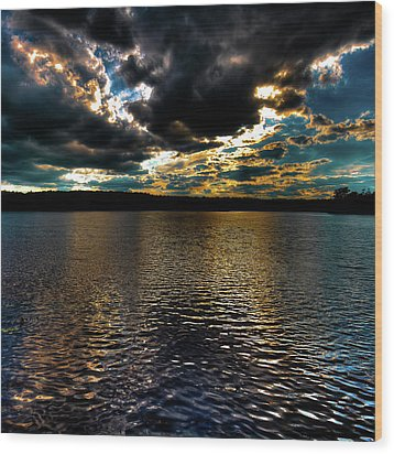 Wood Print featuring the photograph June Sunset On Nicks Lake by David Patterson
