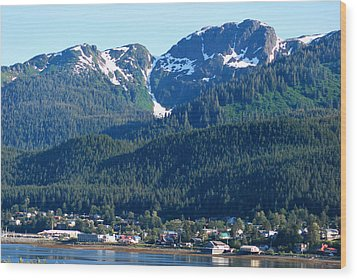 Juneau Wood Print by Terence Davis