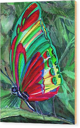 Jungle Butterfly Wood Print by Mindy Newman