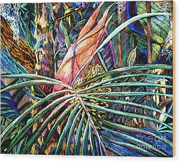 Jungle Fever Wood Print by Mindy Newman