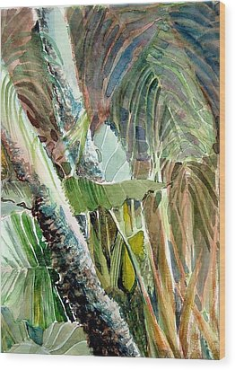 Jungle Light Wood Print by Mindy Newman