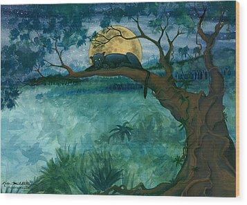 Jungle Panther Wood Print