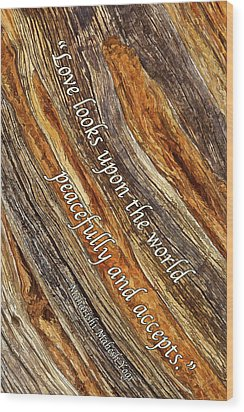Wood Print featuring the photograph Juniper Texture - Love by ABeautifulSky Photography