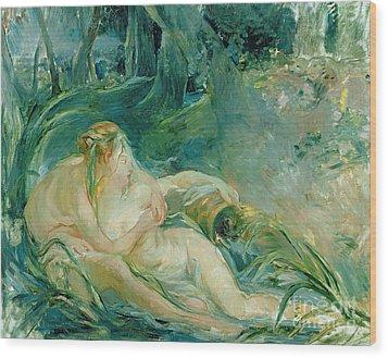 Jupiter And Callisto Wood Print by Berthe Morisot