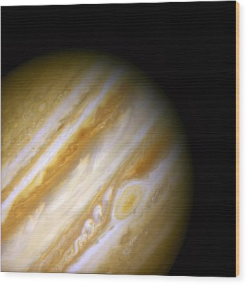 Jupiter And The Great Red Spot Wood Print by Jennifer Rondinelli Reilly - Fine Art Photography