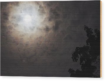 Jupiter And The Moon Wood Print by Don Youngclaus