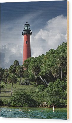 Jupiter Inlet Lighthouse Wood Print by Laura Fasulo