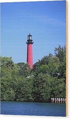 Jupiter Lighthouse Wood Print by Sally Weigand
