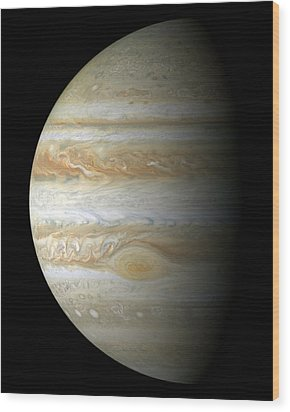 Jupiter Mosiac Wood Print by Stocktrek Images