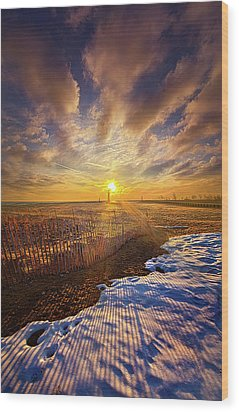 Wood Print featuring the photograph Just A Bit More To Go by Phil Koch