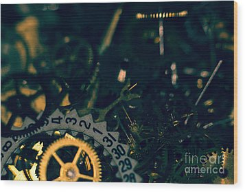 Just A Cog In The Machine 1 Wood Print