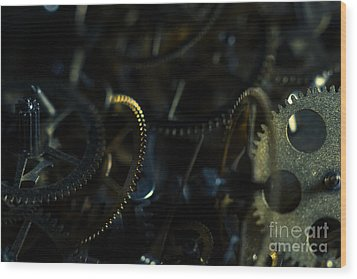 Just A Cog In The Machine 4 Wood Print