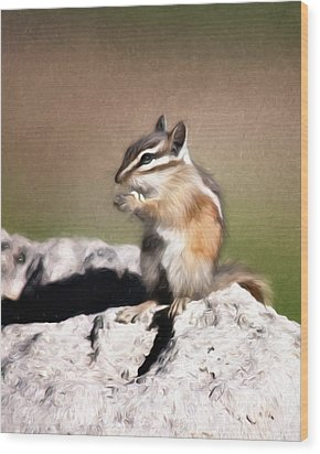Wood Print featuring the photograph Just A Little Nibble by Lana Trussell