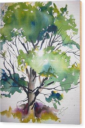 Just A Tree Wood Print