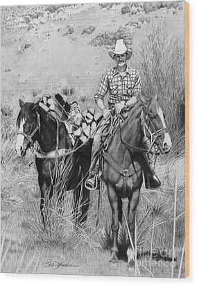 Just Another Western Workday Wood Print