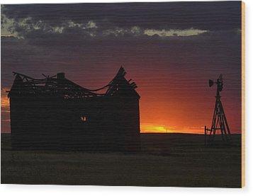 Just Before Sunrise Wood Print by Clarice  Lakota