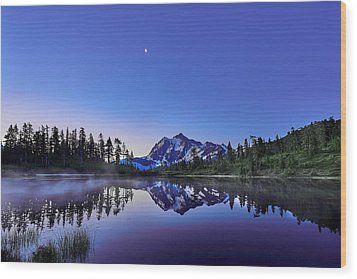 Wood Print featuring the photograph Just Before The Day by Jon Glaser