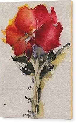 Just Bloomed Wood Print by Anne Duke