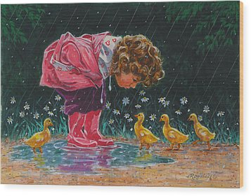Just Ducky Wood Print