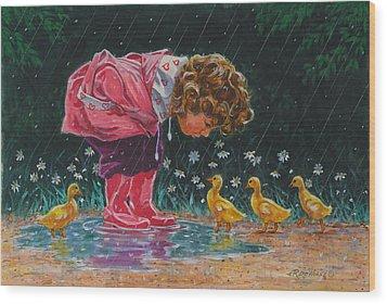 Just Ducky Wood Print by Richard De Wolfe